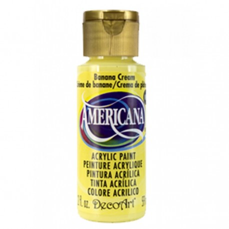 Colore acrilico DecoArt Americana giallo Banana Cream