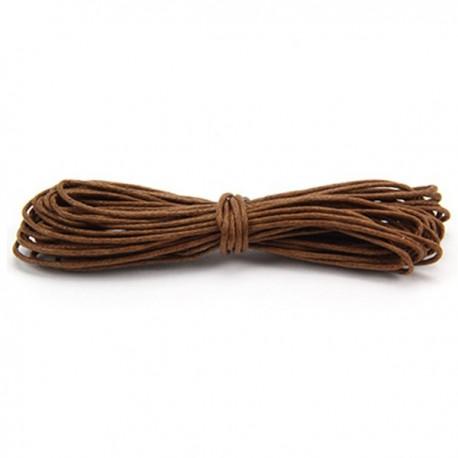 Filo cotone cerato marrone 5 m