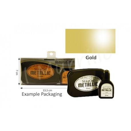 StazOn metallic ink pad & inker gold