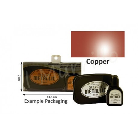 StazOn metallic ink pad & inker copper