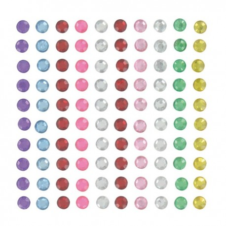100 Strass adesivi colorati Artemio