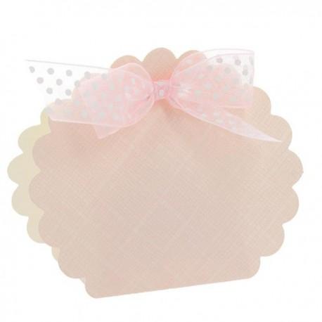 Borsa rotonda rosa 58x40x85 mm