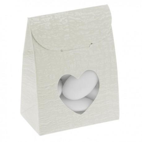 Sacchetto ardesia con cuore 60x35x80 mm