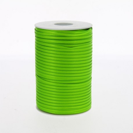 Nastro doppio raso verde mela 3 mm
