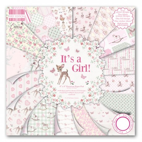 Kit Premium Pad It's a Girl First Edition 20x20cm