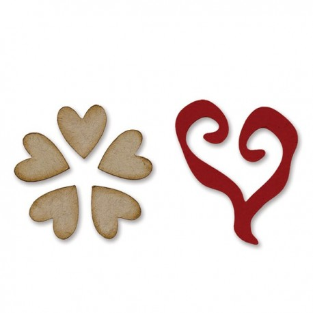 Movers & Shapers Magnetic Die Set 2 pz - Flower & Heart 658368