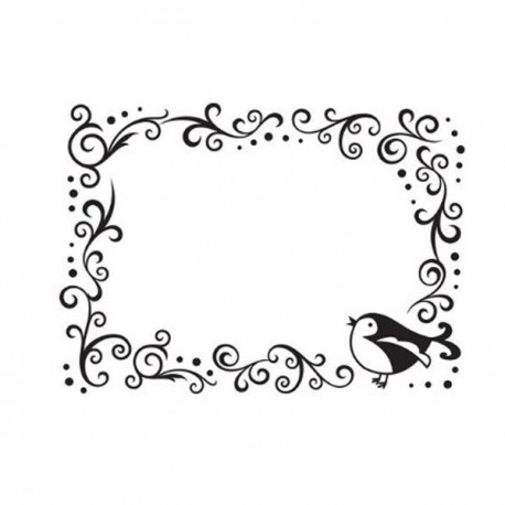 Fustella embossing Bird Scroll Frame Darice