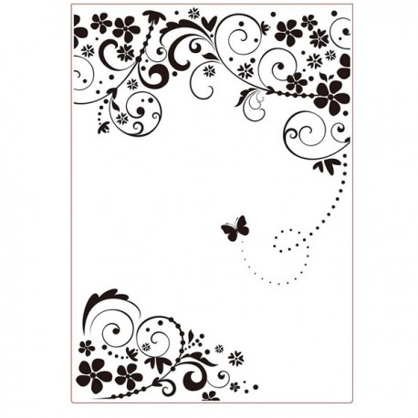 Fustella A4 embossing Butterfly Frame Darice