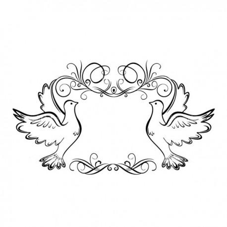 Fustella A4 embossing Pigeons Frame Darice