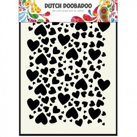 Dutch Mask Art stencil hearts