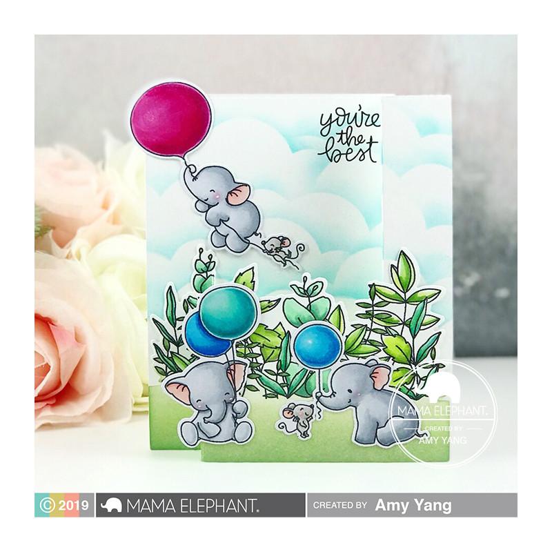 Francobolli/ /Imperforfate timbro foglio con elefanti//gruppi di elefanti//madre e giovani elefanti//Turkmenistan