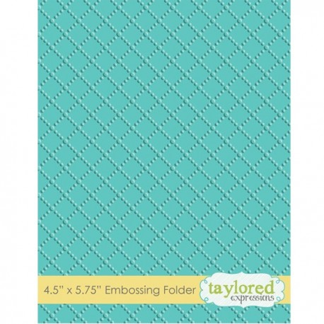 Taylored Expressions Dotted Lattice Embossing Folder