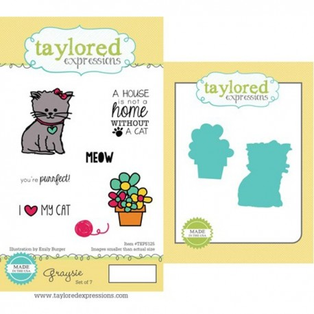 Taylored Expressions Graysie Stamp & Die Combo