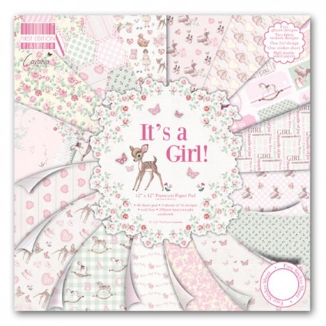 Kit Premium Pad It's a Girl First Edition 30x30cm