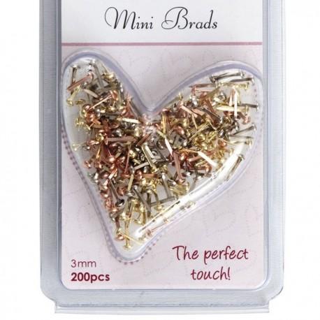 Mini Brads Metallics 3mm