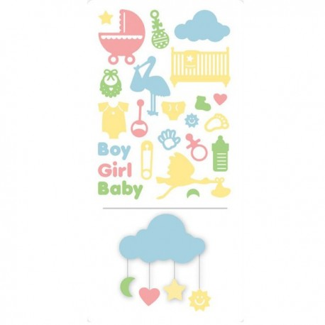 A5 Die Set - New Baby Icons 23 pz