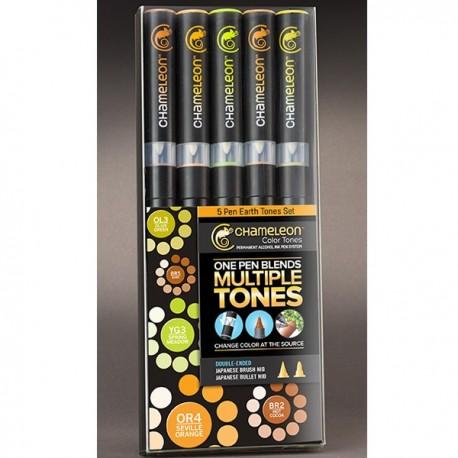 5 Chameleon Pen Earth Tones