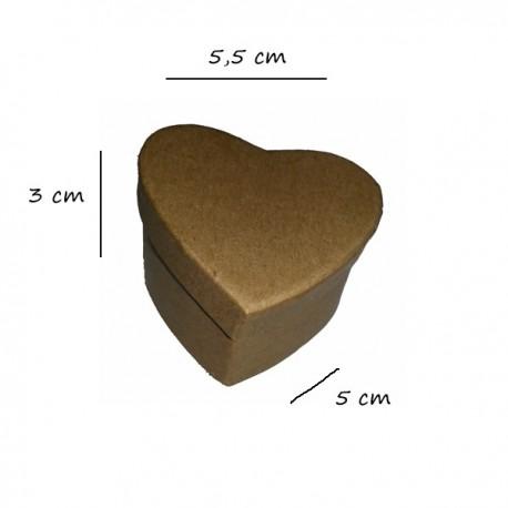 Scatolina in cartone a cuore 5,5x5x3 cm