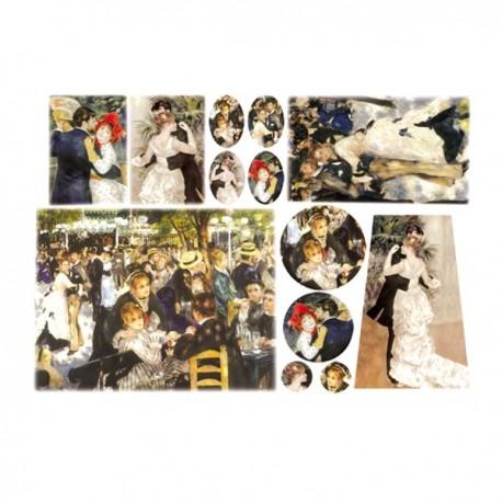Carta di riso Decoupage Matrimonio Impressionista